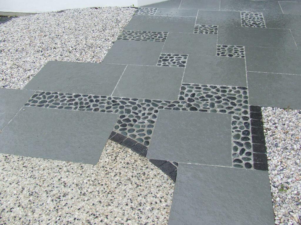 calade dallage et beton desactive gris blanc