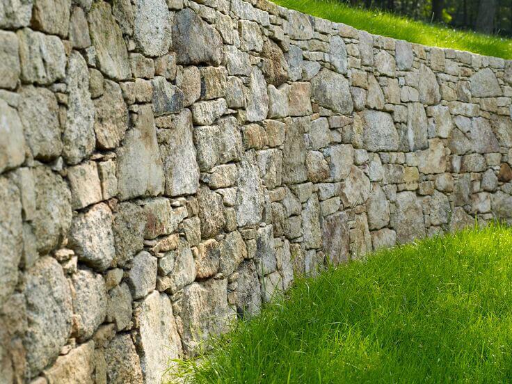 mur a l'ancienne granit
