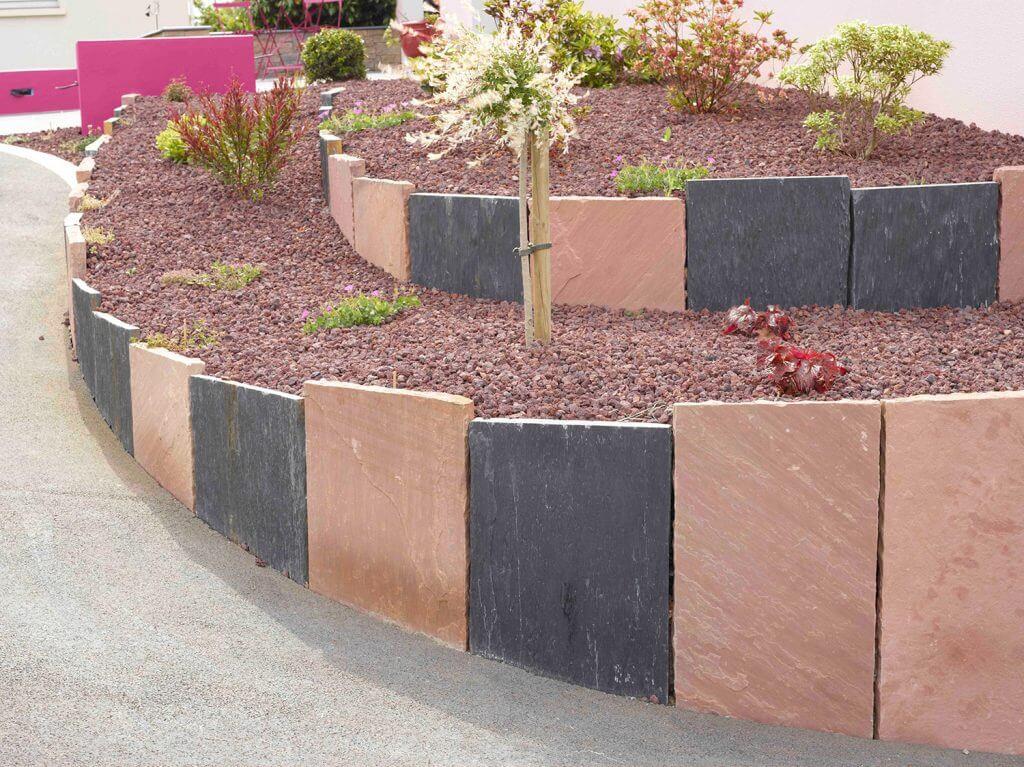 palis de gres et de quartzite noire