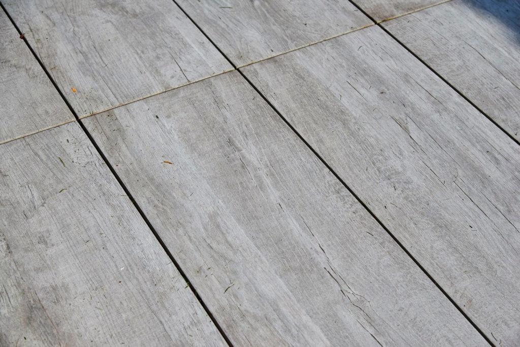 Détail terrasse en céramique