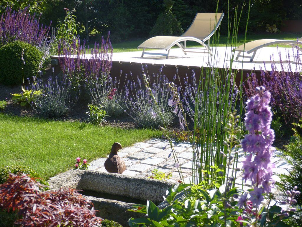 Scène de jardin champêtre